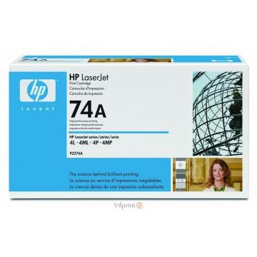 HP 92274A (Nr. 74A, Black / Juoda) tonerio kasetė, 3000 psl.