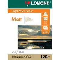 Lomond A4, 120g/m2, 100 lapų, vienpusis matinis fotopopierius (Single Sided Matt Inkjet Photopaper / kodas: 0102003)