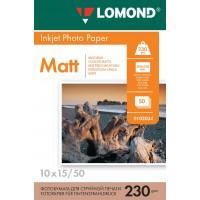 Lomond A6, 230g/m2, 50 lapų, vienpusis matinis fotopopierius (Single Sided Matt Inkjet Photopaper / kodas: 0102034)