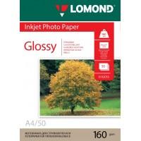 Lomond A4, 160g/m2, 50 lapų, vienpusis blizgus fotopopierius (Single Sided Glossy Inkjet Photopaper / kodas: 0102055)