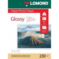Lomond A4, 230g/m2, 50 lapų, vienpusis blizgus fotopopierius (Single Sided Glossy Inkjet Photopaper / kodas: 0102022)