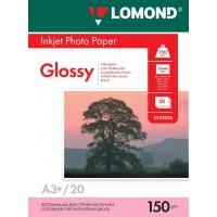 Lomond A3+, 150g/m2, 20 lapų, vienpusis blizgus fotopopierius  (Single Sided Glossy Inkjet Photopaper / kodas: 0102026)
