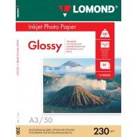 Lomond A3, 230g/m2, 50 lapų, vienpusis blizgus fotopopierius (Single Sided Glossy Inkjet Photopaper / kodas: 0102025)