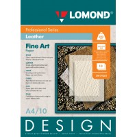 "Lomond A4, 200g/m2, 10 lapų, ""Design Leather"" vienpusis, matinis tekstūrinis fotopopierius (Fine Art Paper Design Leather Matt / kodas: 0917041)"