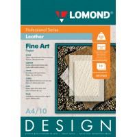"Lomond A4, 200g/m2, 10 lapų, ""Design Leather"" vienpusis, matinis tekstūrinis fotopopierius (Fine Art Paper Design Leather Matt / kodas: 0917041)"