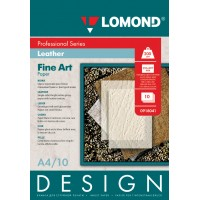 "Lomond A4, 200g/m2, 10 lapų, ""Design Leather"" vienpusis, blizgus tekstūrinis fotopopierius (Fine Art Paper Design Leather Glossy / kodas: 0918041)"