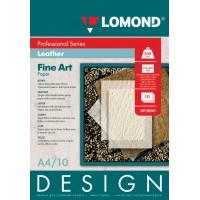 "Lomond A4, 200g/m2, 10 lapų, ""Design Leather"" vienpusis, blizgus tekstūrinis fotopopierius (Fine Art Paper Design Leather Glossy / kodas: 0918041)"