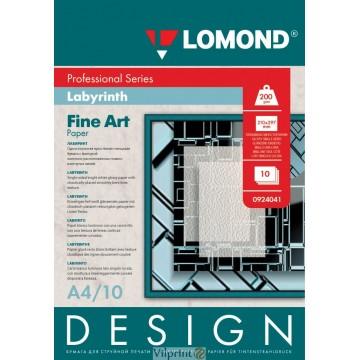 "Lomond A4, 200g/m2, 10 lapų, ""Design Labyrinth"" vienpusis, blizgus tekstūrins fotopopierius (Fine Art Paper Design Labyrint Glossy / kodas: 0924041)"