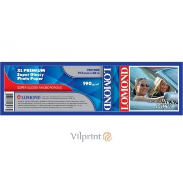 "Lomond 914mm x 30m, 200g/m2, ""Premium"" ruloninis pusiau blizgus fotopopierius (XL Premium Photo Paper Semi Glossy / kodas 1201012)"
