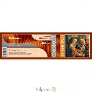 """Lomond 610mm x 10m, 300g/m2, """"Fine Art"""" ruloninė natūrali lininė drobė nepigmentiniams rašalams (XL Natural Canvas Dye / kodas: 1207011)"""