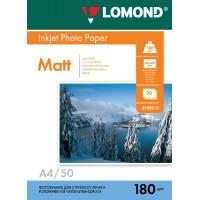 Lomond A4, 180g/m2, 50 lapų, vienpusis matinis fotopopierius (Single Sided Matt Inkjet Photopaper / kodas: 0102014)
