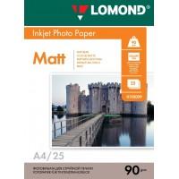 Lomond A4, 90g/m2, 25 lapų, vienpusis matinis fotopopierius (Single Sided Matt Inkjet Photopaper / kodas: 0102029)