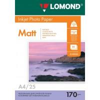 Lomond A4, 170g/m2, 25 lapų, dvipusis matinis/matinis fotopopierius (Double Sided Matt/Matt Inkjet Photopaper / kodas: 0102032)