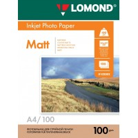 Lomond A4, 100g/m2, 100 lapų, dvipusis matinis/matinis fotopopierius (Double Sided Matt/Matt Inkjet Photopaper / kodas: 0102002)
