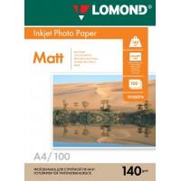 Lomond A4, 140g/m2, 100 lapų, vienpusis matinis fotopopierius (Single Sided Matt Inkjet Photopaper / kodas: 0102074)