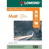 Lomond A4, 130g/m2, 25 lapų, dvipusis matinis/matinis fotopopierius (Double Sided Matt/Matt Inkjet Photopaper / kodas: 0102039)