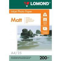 Lomond A4, 200g/m2, 25 lapų, dvipusis matinis/matinis fotopopierius (Double Sided Matt/Matt Inkjet Photopaper / kodas: 0102052)