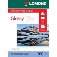 Lomond A4, 200g/m2, 50 lapų, vienpusis blizgus fotopopierius (Single Sided Glossy Inkjet Photopaper / kodas: 0102020)