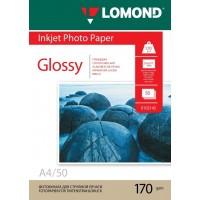 Lomond A4, 170g/m2, 50 lapų, vienpusis blizgus fotopopierius (Single Sided Glossy Inkjet Photopaper / kodas: 0102142)