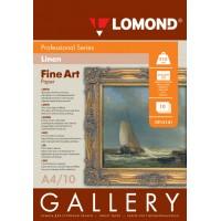 Lomond A4, 210g/m2, 10 lapų, Middle-Linen Natural White, rašaliniam spausdintuvui (kodas: 0913141)