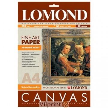 Lomond A4, 300g/m2, 10 lapų, vienpusė natūrali drobė (Fine Art Canvas for dye based inks / kodas: 0908411)