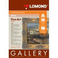 Lomond A4, 170g/m2, 10 lapų, Fine-Linen Natural White, rašaliniam spausdintuvui (kodas: 0913041)