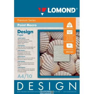 "Lomond A4, 230g/m2, 10 lapų, ""Point Macro"" vienpusis, matinis tekstūrinis fotopopierius (Fine Art Paper Design Premium Point Macro Matte / kodas: 0931041)"