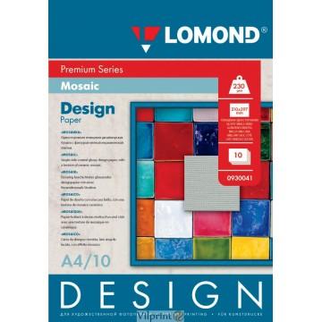 "Lomond A4, 230g/m2, 10 lapų, ""Mosaic"" vienpusis, blizgus tekstūrins fotopopierius (Fine Art Paper Design Premium Mosaic Glossy / kodas: 0930041)"