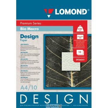 "Lomond A4, 230g/m2, 10 lapų, ""Bio Macro"" vienpusis, blizgus tekstūrinis fotopopierius (Fine Art Paper Design Premium Bio Macro Glossy / kodas: 0936041)"