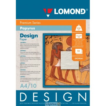 "Lomond A4, 230g/m2, 10 lapų, ""Papyrus"" vienpusis, matinis tekstūrinis fotopopierius (Fine Art Paper Design Premium Papyrus Matte / kodas: 0929041)"