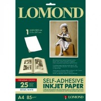 Lomond A4, 85g/m2, 25 lapai, lipnus Blizgus fotopopierius rašaliniam spausdintuvui (Self Adhesive Photo Paper Glossy / kodas 2410003)
