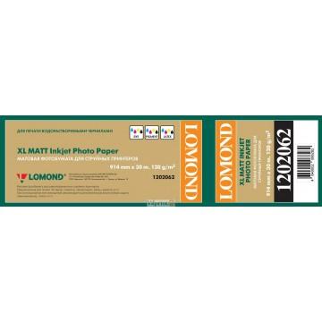 Lomond 914mm x 30m, 120g/m2, ruloninis matinis fotopopierius (XL Photo Paper Matt CAD&GIS / kodas 1202062)