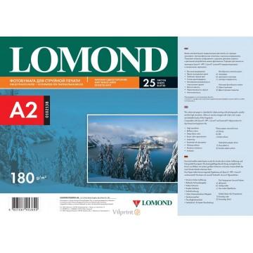 Lomond A2, 180g/m2, 25 lapų, vienpusis matinis fotopopierius (Matt Single Sided Inkjet Photopaper / kodas: 0102138)
