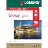 Lomond A4, 85g/m2, 100 lapų, vienpusis blizgus fotopopierius (Single Sided Glossy Inkjet Photopaper / kodas: 0102145)