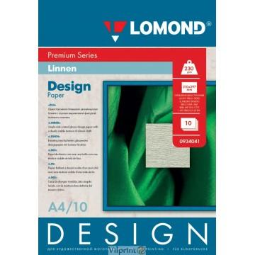 """Lomond A4, 230g/m2, 10 lapų, """"Design Linen"""" vienpusis, blizgus tekstūrinis fotopopierius (Fine Art Paper Design Premium Linen Glossy / kodas: 0934041)"""