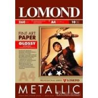 "Lomond A4, 260g/m2, 10 lapų, vienpusis blizgus ""Metallic"" fotopopierius (Fine Art Paper Gallery Metallic Glossy / kodas: 0939042)"