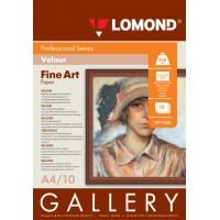 Lomond A4, 268g/m2, 10 lapų, Fine-Linen Natural White, Velour, Semi Glossy, rašaliniam spausdintuvui (kodas: 0911241)