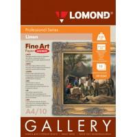 Lomond A4, 230g/m2, 10 lapų, Coarse-Linen Natural White, rašaliniam spausdintuvui (kodas: 0913241)