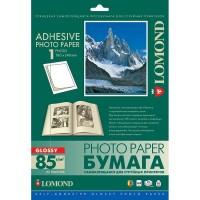 Lomond A4, 85g/m2, 25 lapai, 1 etiketė lape (180 x 240mm), blizgus, lipnus popierius rašaliniam spausdintuvui (Self Adhesive Photo Paper Glossy 1 label / kodas 2412013)