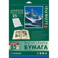 Lomond A4, 85g/m2, 25 lapai, 25 etiketės lape (30 x 40mm), blizgus, lipnus popierius rašaliniam spausdintuvui (Self Adhesive Photo Paper Glossy 25 labels / kodas 2412073)