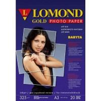 """Lomond A3+, 325g/m2, 20 lapų, """"Premium"""" šilkinis """"Gold Baryta"""" vienpusis fotopopierius (Premium Gold Baryta Photo Paper Art Silk / kodas : 1100203)"""