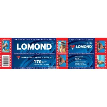 "Lomond 329mm x 8m, 170g/m2, ""Premium"" ruloninis šviesus itin blizgus fotopopierius (Premium Photo Inkjet Paper Super Glossy Bright / kodas 1101106)"
