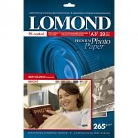 """Lomond A3, 265g/m2, 20 lapų, """"Premium"""" dvipusis šviesus pusiau blizgus fotopopierius (Premium Photo Inkjet Paper Semi Glossy Bright double-sided / kodas 1106302)"""