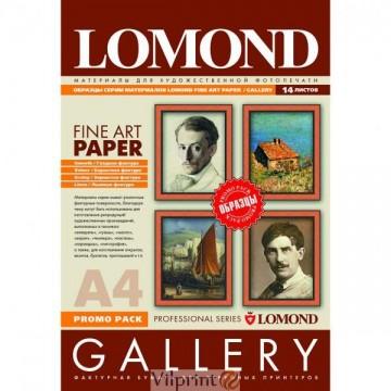 """Lomond A4, 165-290g/m2, 14 lapų, """"Fine-Art"""" grupės fotopopieriaus pavyzdžiai (Fine Art Paper Gallery Promo Pack Set / kodas: 7703000)"""