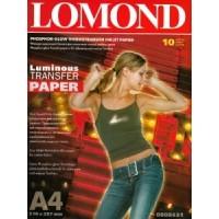 Lomond A4, 10 lapų, termopernešimo popierius raš. spausd. liuminiscensinio vaizdo perkėlimui ant tekstilės (kodas 0808431)