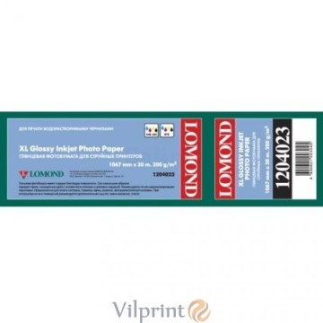 Lomond 1067mm x 30m, 200g/m2, ruloninis blizgus fotopopierius (XL Photo Paper Glossy / kodas 1204023)