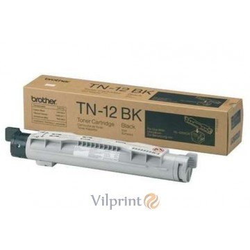 Brother TN-12BK (Black / Juoda) tonerio kasetė, 8500 psl.