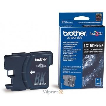 Brother LC1100HY-BK (Black / Juoda) rašalinė kasetė, 900 psl.