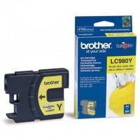 Brother LC980Y (Yellow / Geltona) rašalinė kasetė, 260 psl.