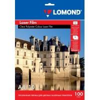 Lomond A4, 100mic, 10 lapų, skaidri plėvelė lazeriniams spausdintuvams (PET Film for b/w and color laser printers / kodas 0703411)